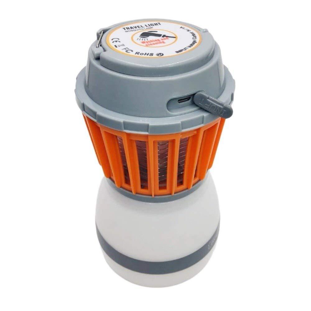 Multifunction Solar Mosquito Zapper Repellent LED Camping Light Waterproof Rechargeable Bug Zapper for Indoor Outdoor   Spain