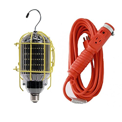 Yellow Jacket 2948 16//3 SJTW Trouble Light Work Light with Metal Guard and  Outlet 50-Feet Coleman Cable