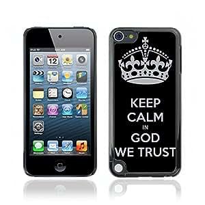 Carcasa Funda Case // V0000384 Bible: Keep Calm in God We Trust // iPod Touch 5 5G 5th
