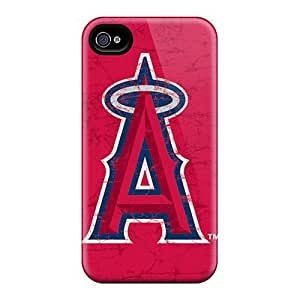 Shock-Absorbing Hard Phone Case For Iphone 4/4s (orN8287wyan) Unique Design Trendy Los Angeles Angels Skin