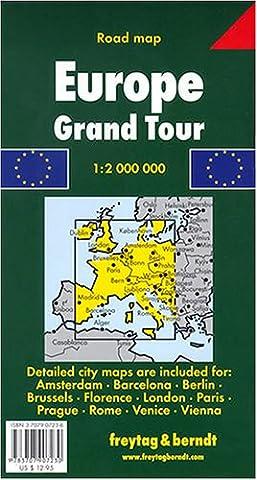 Europe Grand Tour Map - Detail Map