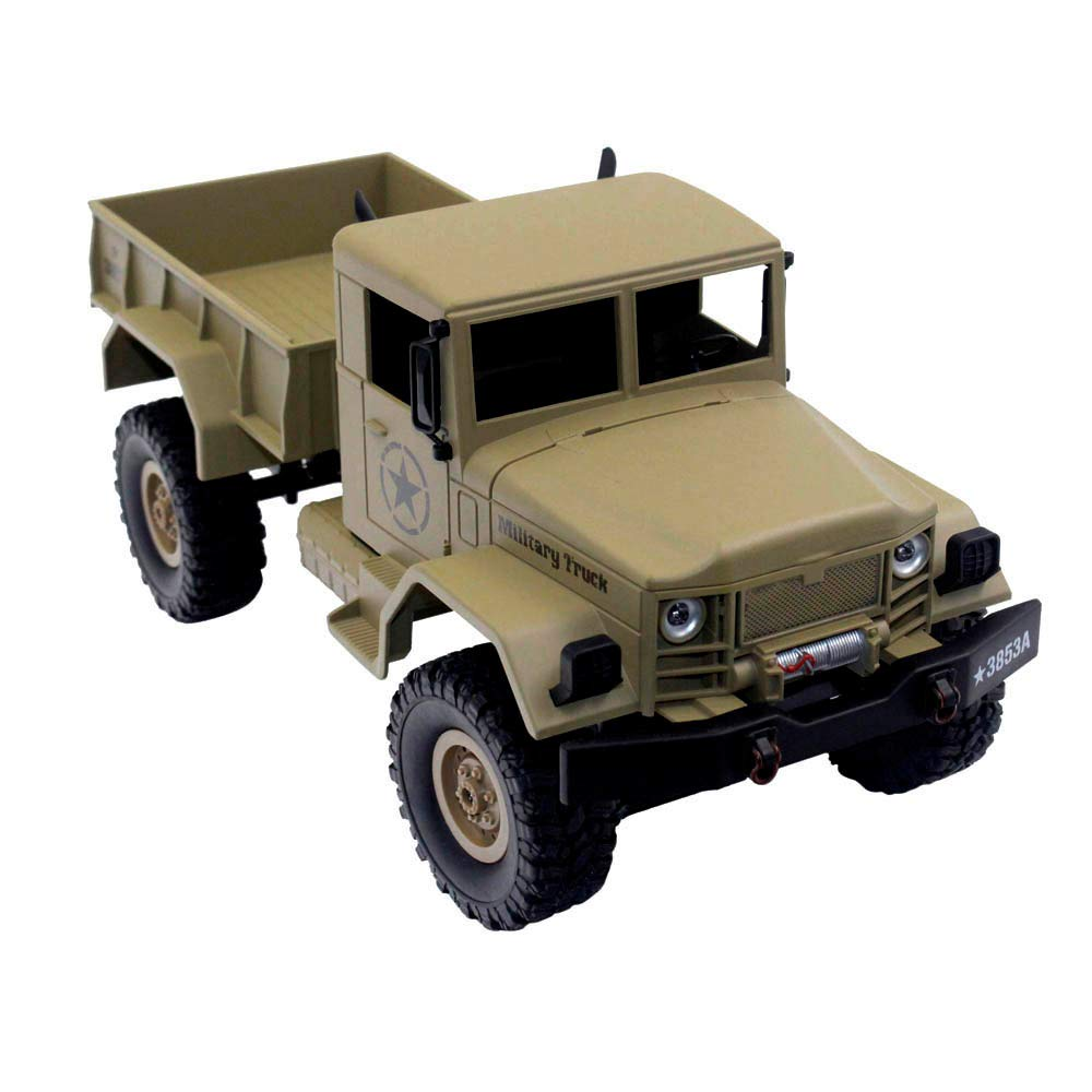 Choosebuy 1:16 Military Off-Road Remote Control Truck, Cool 6WD Powerful Engine Bright Spotlights RC Tracked Cars Toys with 2.4GHz Technology for Indoors/Outdoors (Desert Yellow) by Choosebuy (Image #2)