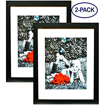 Amazon Gallery Solutions 14x18 Black Wood Wall Frame With