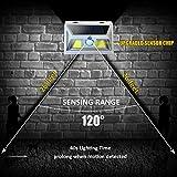 JUSLIT Solar Lights Outdoor, 74 COB LEDs Motion