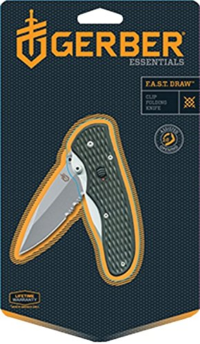 Spring Fast - Gerber Fast Draw Knife, Assisted Opening, Serrated Edge [22-47161]