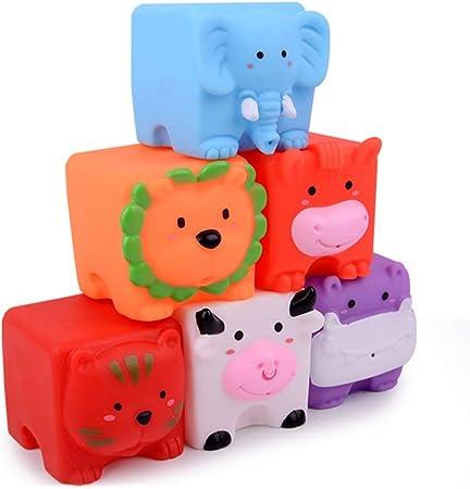 Amazon Achicoo お風呂おもちゃ 面白い シャワー 食品グレードシリコーン 水 スクイーズ サウンド 漫画 人形 赤ちゃん 子供 草原の仲間 お風呂用おもちゃ おもちゃ