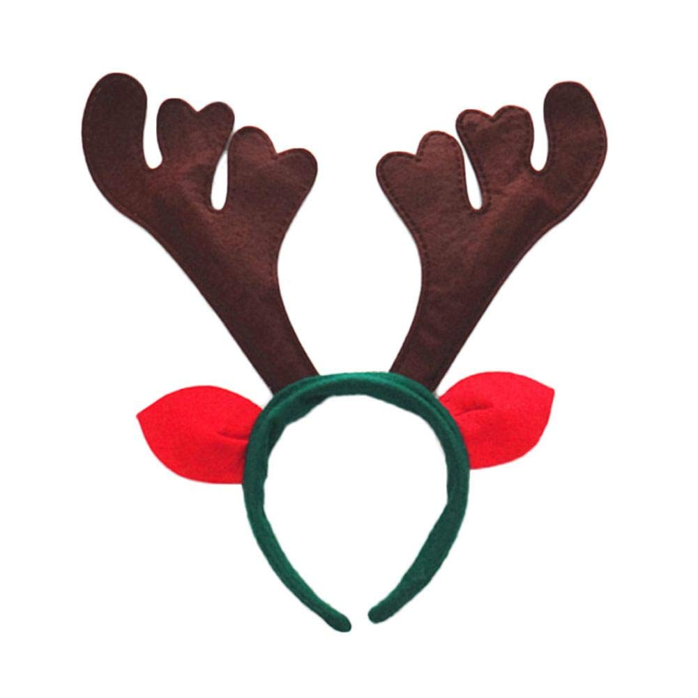 Heitaisi Christmas Reindeer Antler Headbands Christmas Party Fancy Dressing Novelty Accessory Party Hairband Christmas Ornaments Cosplay Costume