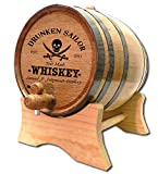 Personalized Drunken Sailor 2 Liter White Oak Barrel