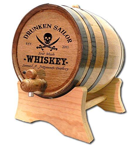Personalized Drunken Sailor 2 Liter White Oak Barrel by Thousand Oaks Barrel Co.