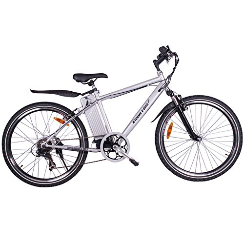 X-Treme Scooters Apline Trails Electric Powered Mountain Bike (Aluminum/Silver)