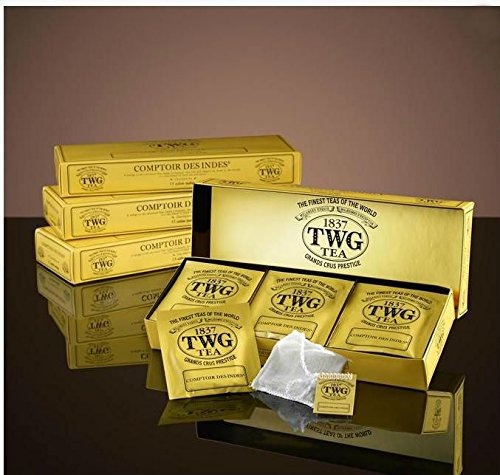 TWG Singapore - Luxury Teas - BLACK TEA COMPTOIR DES INDES (Masala Chai) - 15 Hand sewn pure cotton tea bags ()