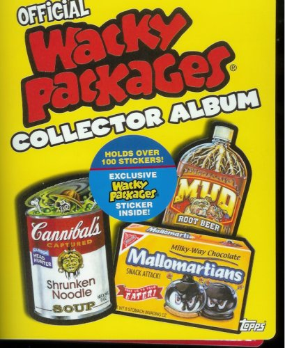 (2006 Topps Wacky Packages Collector Album - Holds Over 100 Wacky Packages Stickers Plus Includes 1 Bonus Sticker Exclusive to the Album!!)