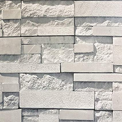 Crown Brick Wallpaper Peel And Stick Natural Stacked Stone Decor