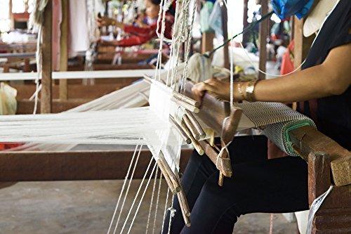 Foulard traditionnel du Cambodge bleu Roi