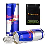 Red Bull Diversion Safe Secret Stash Can 8oz w HumanFriendly Smell Proof Bag