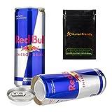 Red Bull Diversion Safe Secret Stash Can 8oz w HumanFriendly Smell Proof Bag