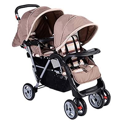 Costzon Double Stroller Infant Baby Pushchair Convenience Twin Seat by Costzon that we recomend personally.