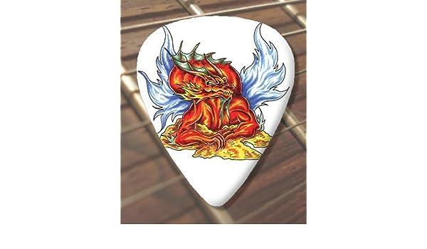 10 x Tattoo Púa Para Guitarra Evil Dragon (D38) (Schwer 1.00mm ...