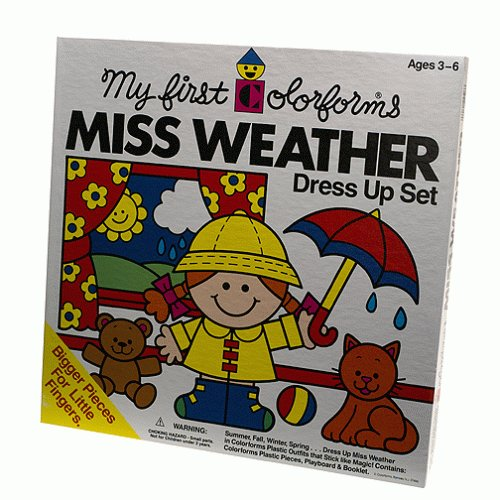 My First Colorforms - Little Miss Weather Dress Up Set - University Games