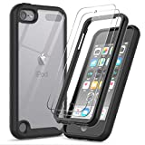 ipod 5 bumpers with clear back - iPod Touch 7th/6th/5th Generation Case, iPod Touch Case with Tempered Glass Screen Protector [2 Pack], LeYi Full-Body Armor Hybrid Rugged Protective Clear Bumper Case Cover for Apple iPod Touch 7/6/5