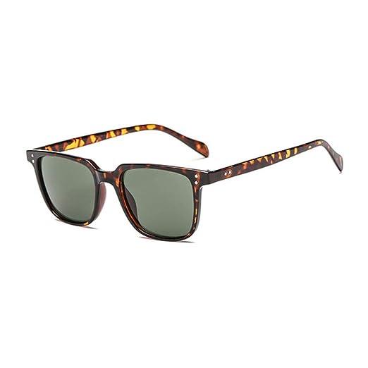 Yangjing-hl Gafas de Sol para Hombre Hombres Marca Suqare ...