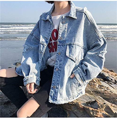Jeans Sciolto Eleganti Bavero Giacche Casual Giacca Fashion Vintage dFxORd
