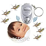 Shopmeeko Ultrasonic Mosquito Repeller Pest Bug Repellent Insect Keychain Control Anti