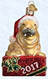 Old World Christmas 2017 Holiday Walrus Glass Blown Ornament