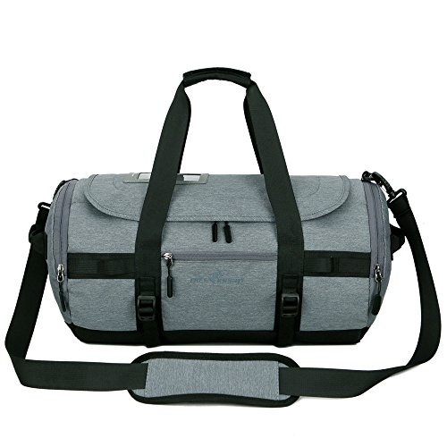 INorton Travel Duffle Backpack Weekend Bag, Lightweight Outdoor Sports Shoulder Bag Men Women,Large Sports Gym Bag Shoes Compartment by INorton