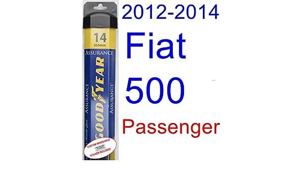 2012 - 2014 Fiat 500 hoja de limpiaparabrisas de repuesto Set/Kit (Goodyear limpiaparabrisas blades-assurance) (2013): Amazon.es: Coche y moto