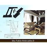 Mécanisme de plateau relevable pour table basse M09 - LE GRAND