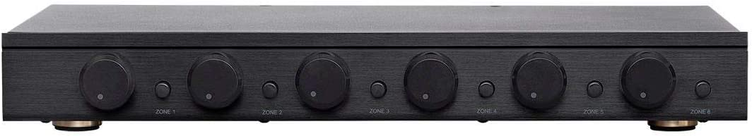 Impedance Protection Monoprice SSVC-6.1 Single Input 6-Channel Speaker Selector with Volume Control Individual Zone On//Off Buttons