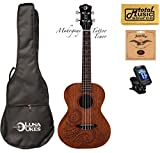 Luna Mahogany Series Tattoo Tenor Ukulele w/ Gigbag,Tuner,Strings & PC