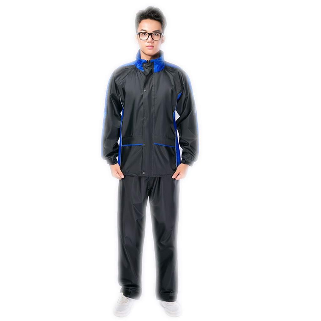 Bleu X-grand Imperméable M L XL   2XL   3XL Hommes et Femmes Pantalon de Pluie Costume Split Adulte (Couleur   Orange, Taille   M)