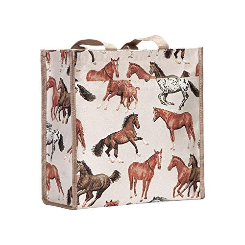Signare patterns a Tote Shopper choice Bag of Rumming Horses in RnRvqr
