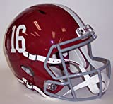 Alabama Crimson Tide #16 Riddell Speed Mini Football Helmet