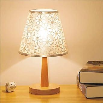 Lámpara de mesilla led tela de lino lámpara de mesa de dormitorio ...