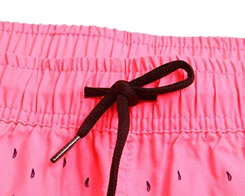 Elsa Steen - Damen Badeshorts Sport mit Blumen Muster Zweifarbig, L, Pink