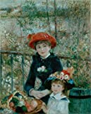 Beautiful Paint on Canvas no frame, no stretch ,The Two Sisters On the Terrace,1881 By Pierre-Auguste Renoir, is for Home Decoration, or Wall Art Decoration, Home Decor. There are fiber canvas, cotton canvas, or linen canvas. And it is also t...