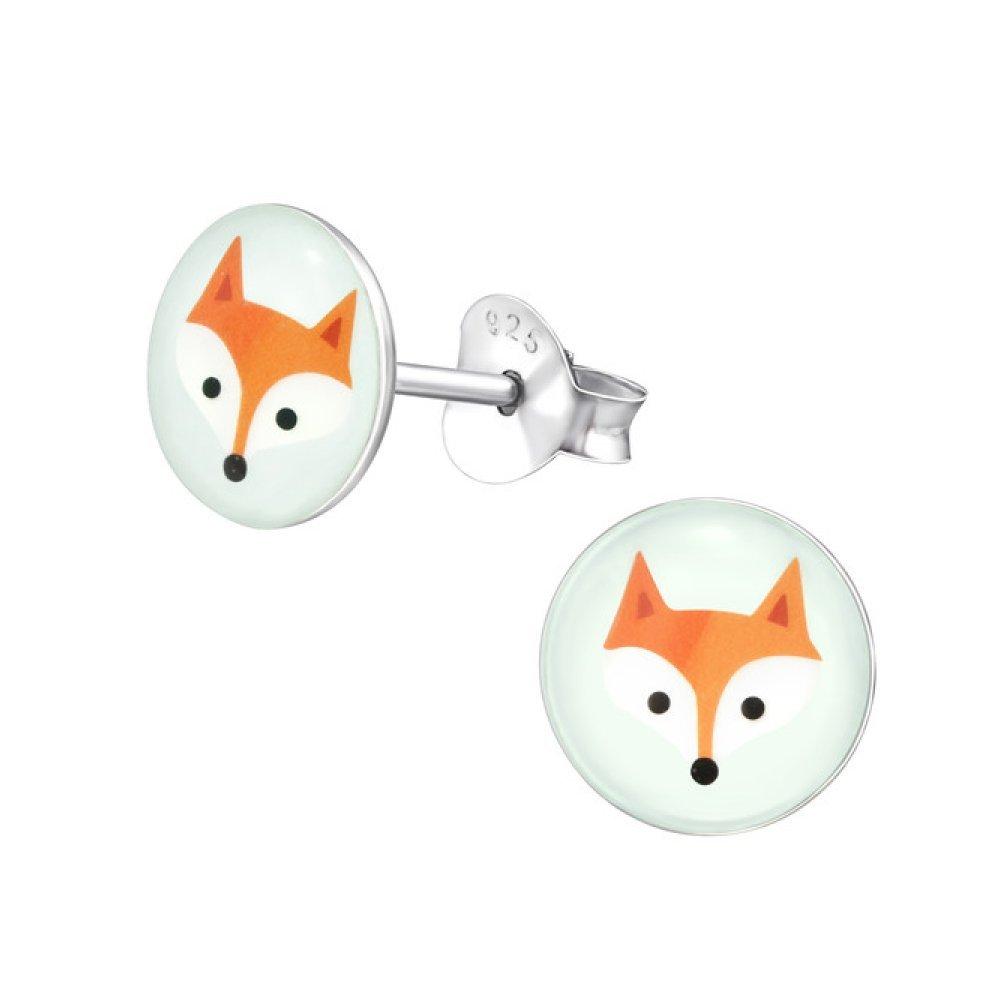Sterling Silver Children's Fox Stud Earrings