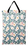 Large Hanging Wet/Dry Cloth Diaper Pail Bag for Reusable Diapers or Laundry (Rose)