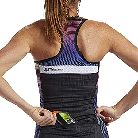 Zoot Womens Ultra Racerback Tri Tank Performance Triathlon Top Carbon Fabric Built-in Bra