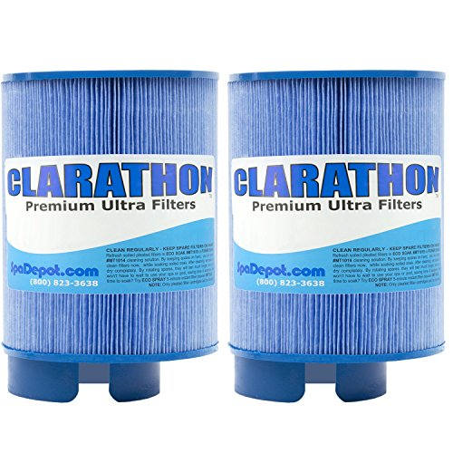 (Clarathon 2 Antimicrobial Filters for SofTub - 8555 Replacement fits Pre-2009 Spa Models - 2-Pack)