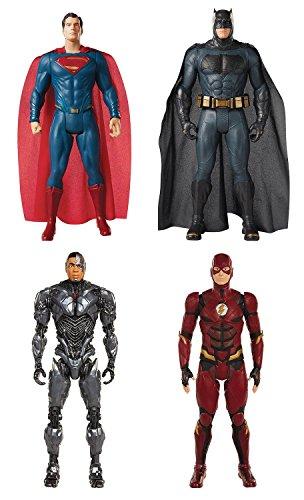 justice+league Products : Jakks Pacific Justice League: Superman, Batman, Cyborg, Flash 20 Inch Action Figure Set