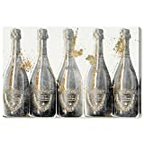 The Oliver Gal Artist Co. Drinks and Spirits Wall Art Canvas Prints 'Dom Marbles' Home Décor, 36' x 24', Gray, Gold