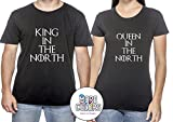 Game of the Thrones Matching T-Shirt - Graphic Tees TShirt - King & Queen in the North - Unisex - Couple Shirts Honeymoon