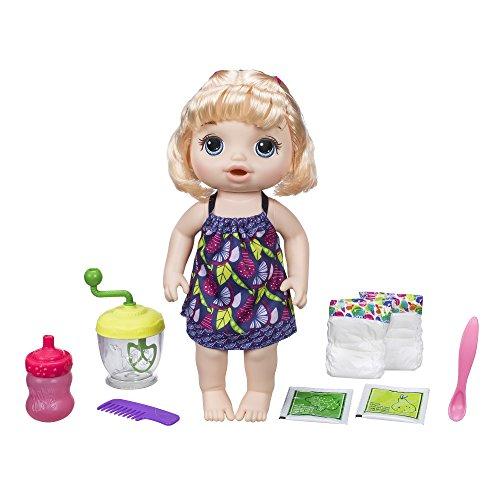 Baby Alive Poupée Mange à la Cuillere Blonde, E0586