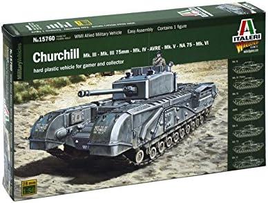 イタレリ 1/56 WW.II イギリス陸軍 チャーチル Mk.III / IV / AVRE / NA75 プラモデル IT15760