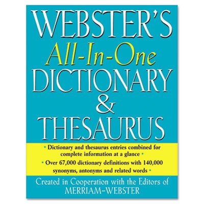 Merriam-Webster All-In-One Dictionary/Thesaurus, Hardcover, 768 Pages (MERFSP0467) Category: Reference Books