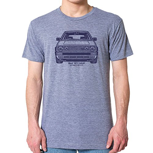 GarageProject101 Golf GTI Mk2 T-Shirt M Athletic Gray (2015 Volkswagen Golf Gti Autobahn W Performance Pkg)